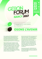 PROGRAMME GERONFORUM 2017