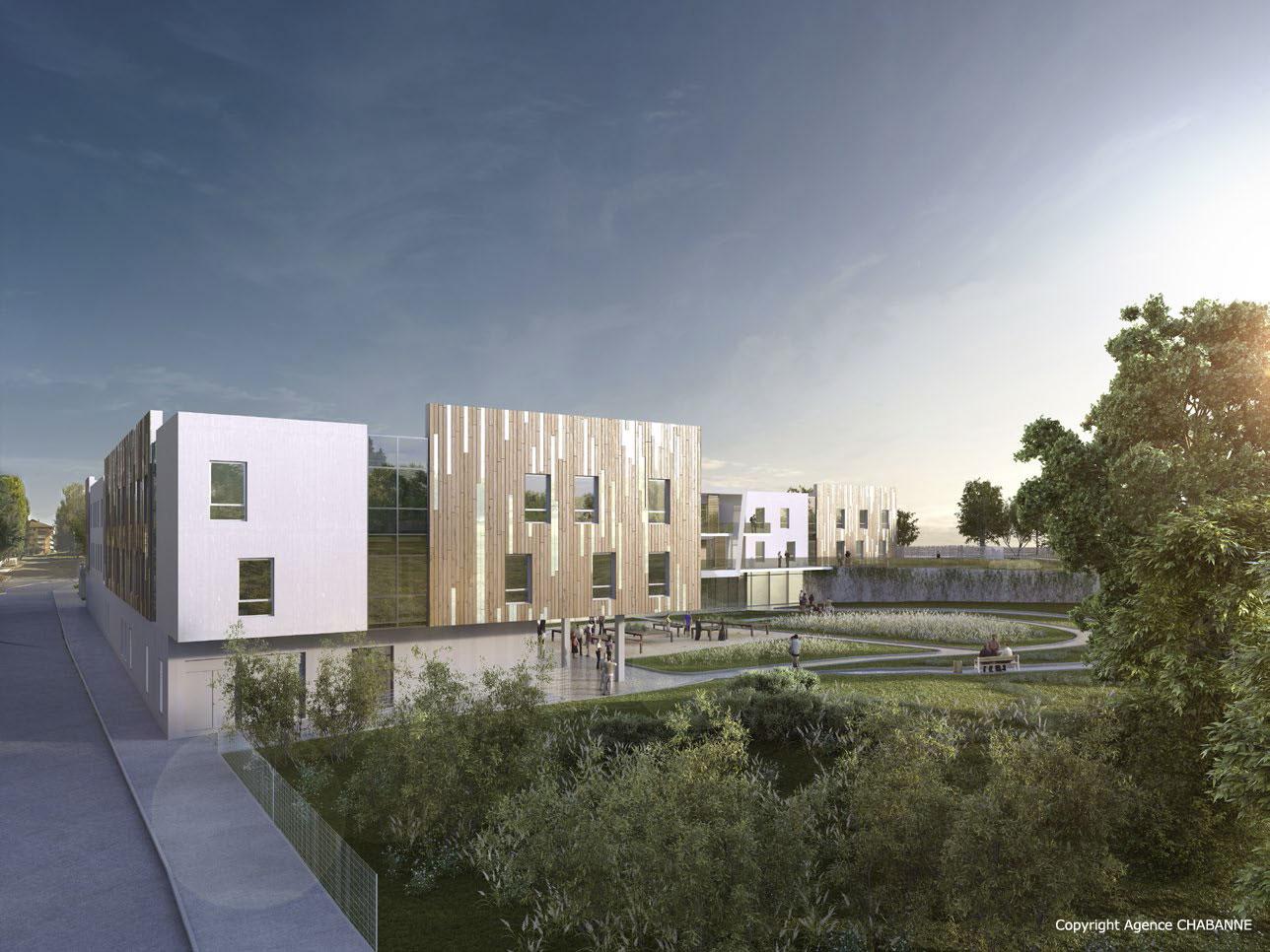 Architecture Ehpad innovante: l'agence  CHABANNE conçoit un Ehpad comme un Village avec ses villas et sa place animée